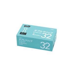 (まとめ) TANOSEE ダブルクリップ 大 口幅32mm ブラック 1セット(300個:10個×30箱) 【×5セット】