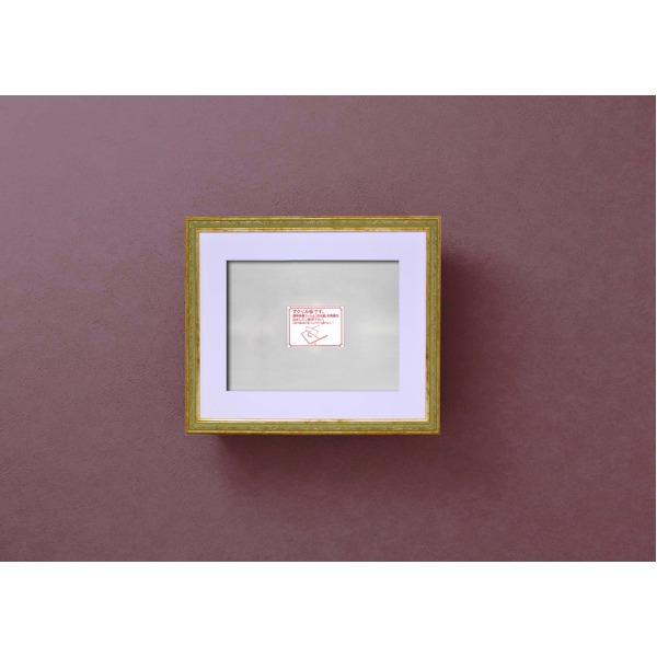 軽量水彩額 マット付き・ UV 紫外線 カットアクリル模様入り水彩額F4号 マット付 グリーンZPNn0wkO8X