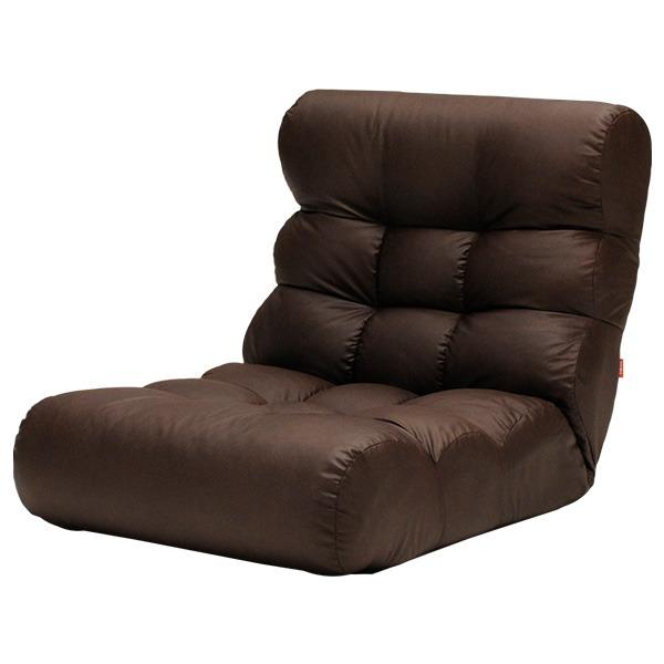 【送料無料】ソファー座椅子/フロアチェア 【ダークブラウン】 ワイドタイプ 41段階リクライニング 『ピグレットビッグ2nd FL』