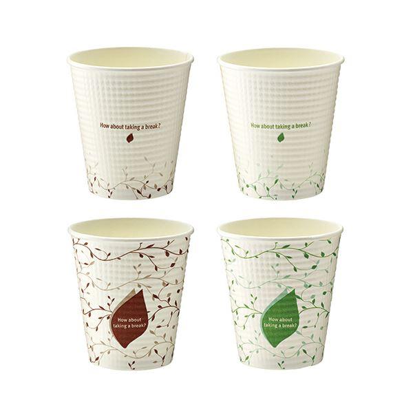 【送料無料】TANOSEE エンボスカップ IVY210ml(7オンス)1セット(1500個:50個×30パック)