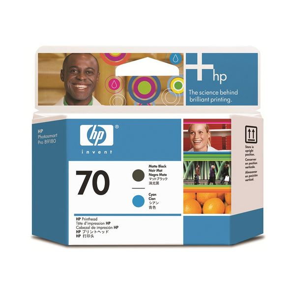 【送料無料】(まとめ) HP70 プリントヘッド マットブラック/シアン C9404A 1個 【×10セット】