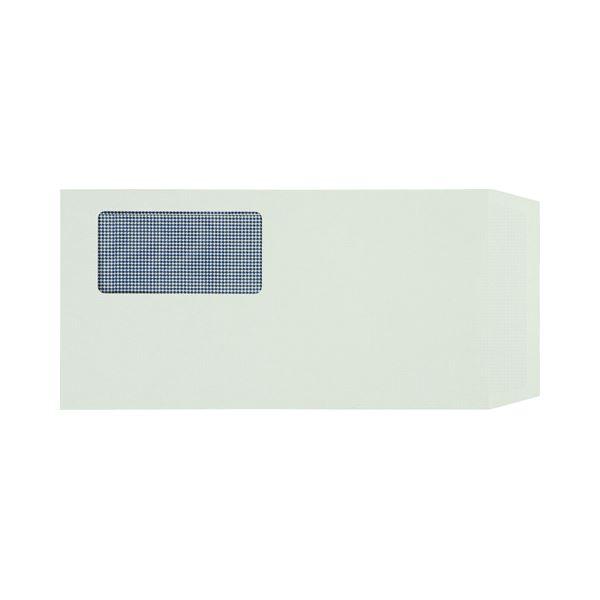 (まとめ) TANOSEE 窓付封筒 裏地紋付 長3 80g/m2 グレー 1パック(100枚) 【×10セット】