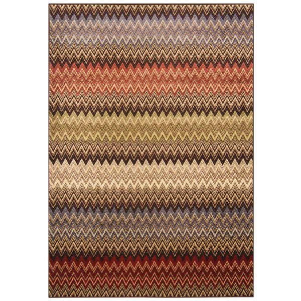 トルコ製 ラグマット/絨毯 【シェブロン柄 160cm×230cm】 長方形 ウィルトンラグ 『AURA オーラ』 〔リビング〕【代引不可】