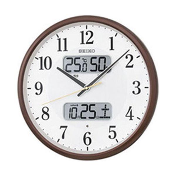 【送料無料】SEIKO カレンダー・温湿度計付き電波掛時計  1台 型番:KX383B