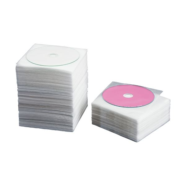 【送料無料】(まとめ) TANOSEE CD・DVD不織布ケース片面1枚収納 1セット(500枚:100枚×5パック) 【×10セット】