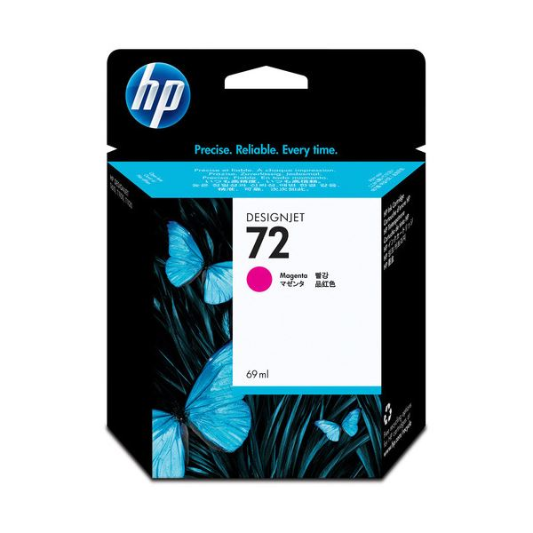 【送料無料】(まとめ) HP72 インクカートリッジ マゼンタ 69ml 染料系 C9399A 1個 【×10セット】