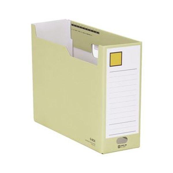 【送料無料】(まとめ)キングジム Gボックス A4ヨコ収納幅100mm 黄 再生ボード製 4033 1セット(5冊)【×5セット】