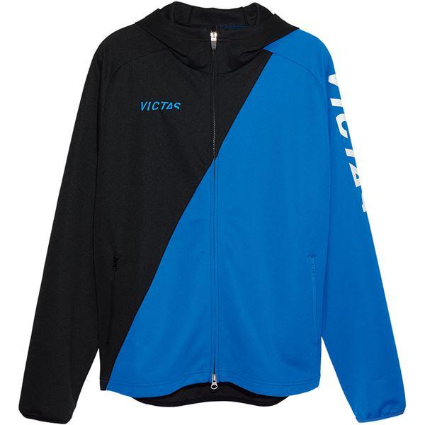 【送料無料】VICTAS(ヴィクタス) VICTAS V‐NJJ056 フーデッドジャージジャケット 33154 ブルー 3XL