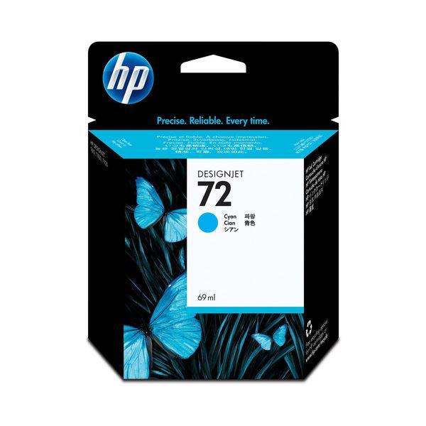 【送料無料】(まとめ) HP72 インクカートリッジ シアン 69ml 染料系 C9398A 1個 【×10セット】