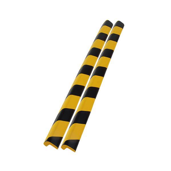 【送料無料】(まとめ)カーボーイ 安心クッションL字型90cm 大 トラ柄 2本組【×5セット】