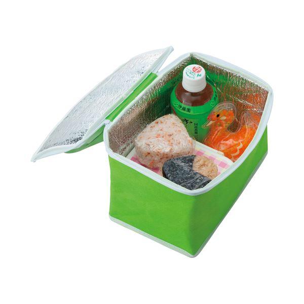 【送料無料】(まとめ) TANOSEE 不織布保冷バッグ ヨコ215×タテ145×マチ幅140mm グリーン 1パック(5枚) 【×5セット】