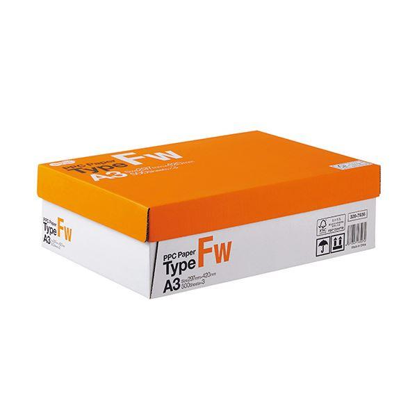 【送料無料】(まとめ) TANOSEE PPC PaperType FW A3 1箱(1500枚:500枚×3冊) 【×5セット】