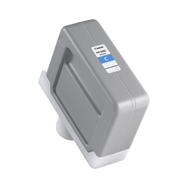 (まとめ) キヤノン Canon インクタンク PFI-306 顔料シアン 330ml 6658B001 1個 【×5セット】