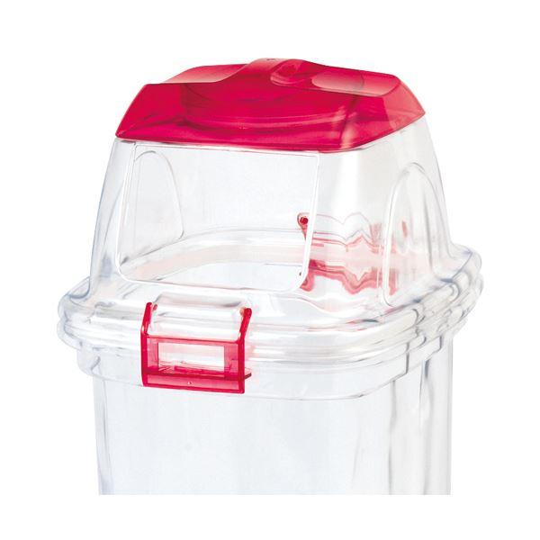 (まとめ) 積水テクノ成型 透明エコダスター 共通フタ(本体別売り) 四角レッド TPFS4R 1個 【×5セット】