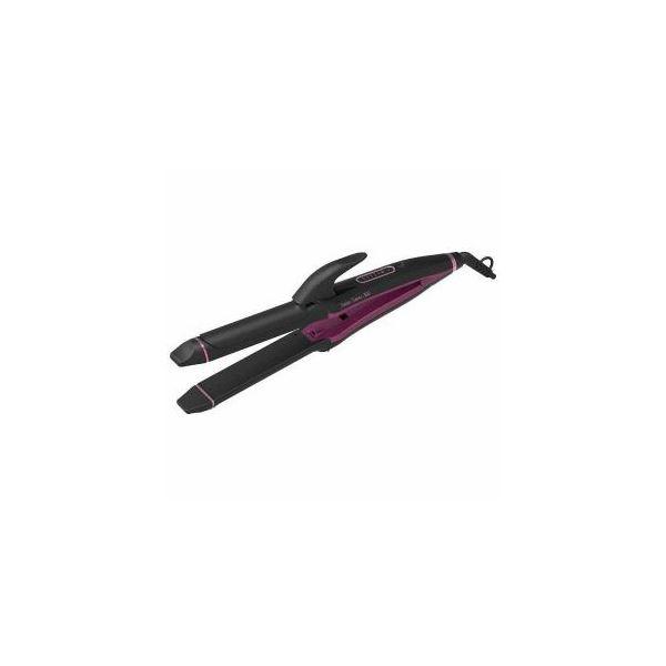 コイズミ マイナスイオンストレート&カールアイロン ブラック KHR-7600K