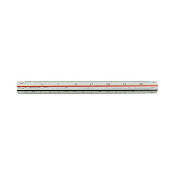 【送料無料】(まとめ)内田洋行 三角スケール 土地家屋用15cm 1-882-0402【×30セット】
