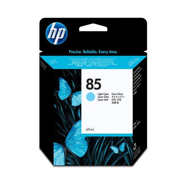 (まとめ) HP85 インクカートリッジ ライトシアン 69ml 染料系 C9428A 1個 【×10セット】