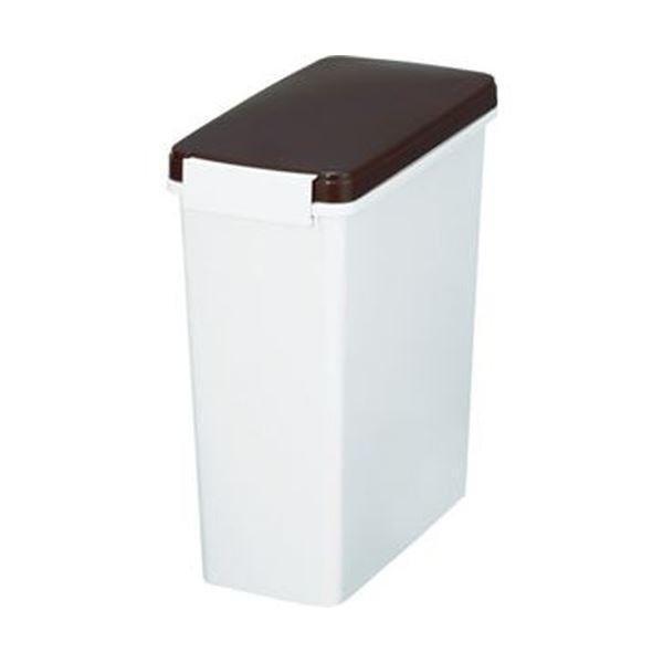 【送料無料】(まとめ)新輝合成 スリムペールパッキン付14型ブラウン 88592 1個【×10セット】