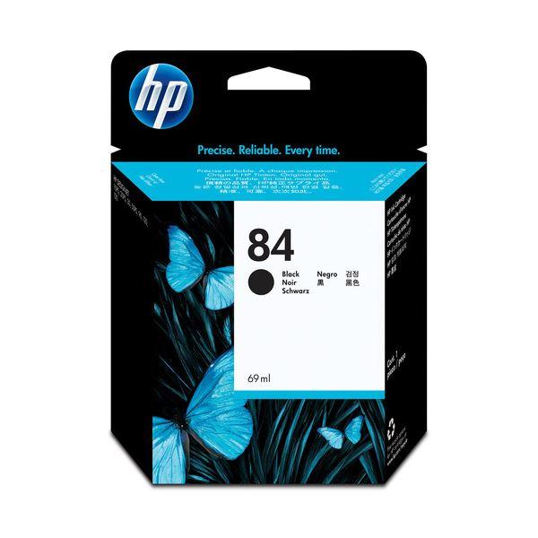 【送料無料】(まとめ) HP84 インクカートリッジ 黒 染料系 C5016A 1個 【×10セット】