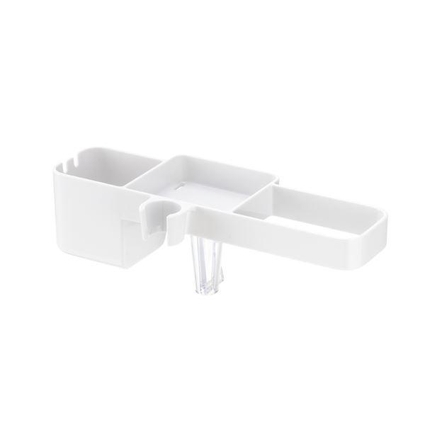 【送料無料】(まとめ) シャワーフックラック/浴室ラック 【ホワイト】 幅26×奥行11×高さ9cm 浴室収納 【×12個セット】