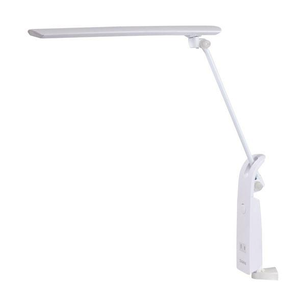 (まとめ)スワン電器 LEDデスクライトクランプ式 14W 1350Lx ホワイト AS-751WH 1台【×3セット】