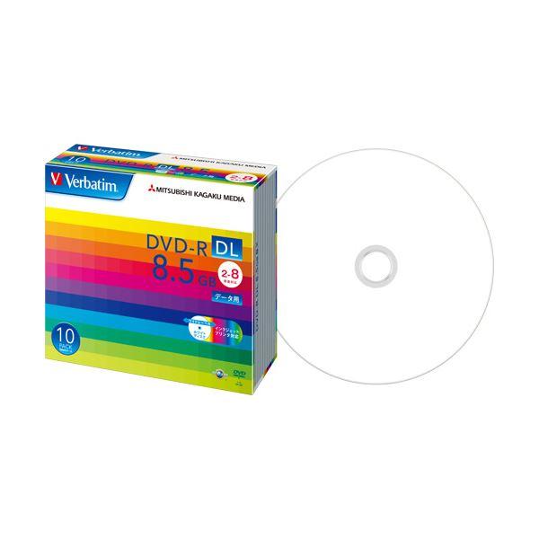 【送料無料】(まとめ) バーベイタム データ用DVD-R DL8.5GB 2-8倍速 ホワイトワイドプリンタブル 5mmスリムケース DHR85HP10V11パック(10枚) 【×10セット】