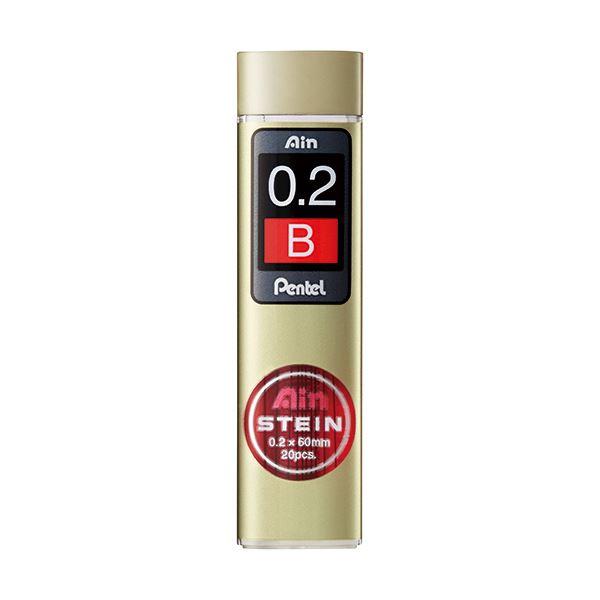 【送料無料】(まとめ) ぺんてる シャープ替芯 アインシュタイン 0.2mm B C272W-B 1個(20本) 【×50セット】