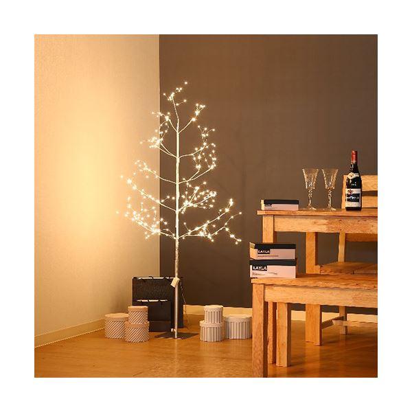 【送料無料】クリスマスツリー 【高さ150cm】 固定用ベース ペグ DCアダプター付き 『ミニLEDツリー』 〔リビング 店舗 什器 備品〕【代引不可】