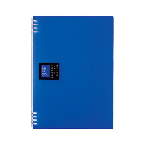 (まとめ) キングジム TEFRENU リングノート A4 青【×20セット】