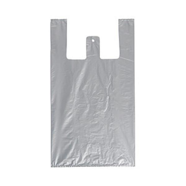 レジ袋(シルバー) 1パック/100枚 LL 1箱(20パック)
