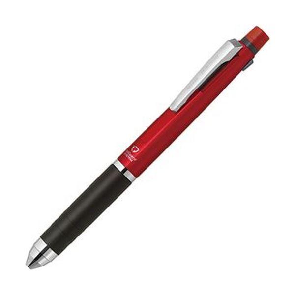 【送料無料】(まとめ)ゼブラ 多機能ペン デルガード+2C(軸色:レッド)P-B2SA85-R 1本【×10セット】