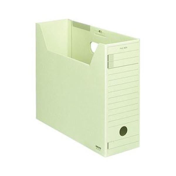 【送料無料】(まとめ)コクヨ ファイルボックス-FS(ミックスペーパー)A4ヨコ 背幅102mm 緑 フタ付 A4-LFJ-g 1セット(5冊)【×5セット】