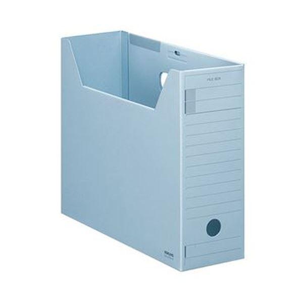 【送料無料】(まとめ)コクヨ ファイルボックス-FS(Fタイプ)A4ヨコ 背幅102mm 青 フタ付 A4-LFFN-B 1セット(5冊)【×5セット】