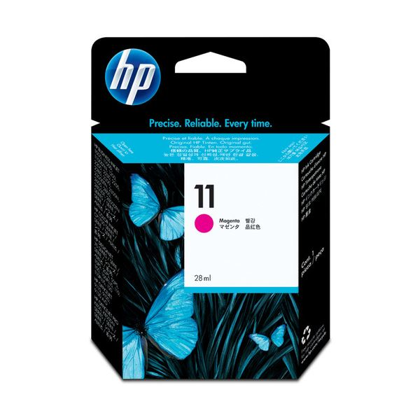 【送料無料】(まとめ) HP11 インクカートリッジ マゼンタ 28ml 染料系 C4837A 1個 【×10セット】