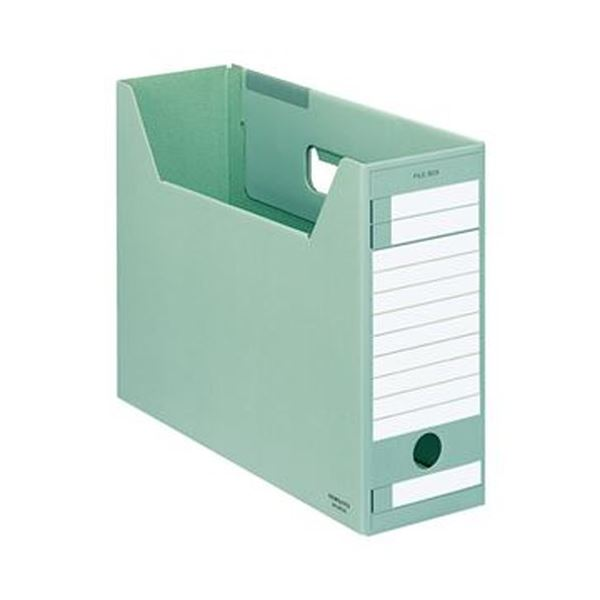 【送料無料】(まとめ)コクヨ ファイルボックス-FS(Eタイプ)(A4ジャスボックス)A4ヨコ 背幅102mm 緑 A4-LFE-g 1セット(5冊)【×10セット】