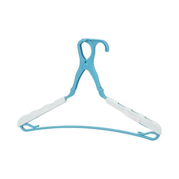 【送料無料】5SグリップハンガーDX/洗濯物干し 【ブルー 3本組】 40個セット 幅40~53cm プラスチック レック 〔洗濯用品 ランドリー用品〕