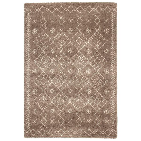 民族調 ラグマット/絨毯 【135cm×190cm ブラウン】 長方形 ウィルトン 『ROYAL NOMADIC ロイヤルノマディック モロッコ』【代引不可】