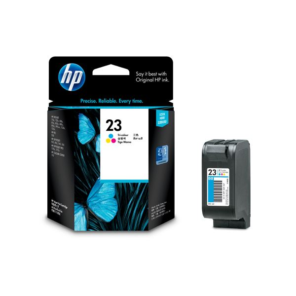 【送料無料】(まとめ) HP23 プリントカートリッジ 3色カラー C1823D 1個 【×10セット】