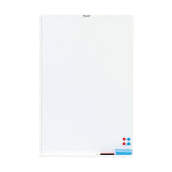【送料無料】TRUSCO スチール製ホワイトボード白暗線 900×600 黒 WGH-32SA-BL 1枚