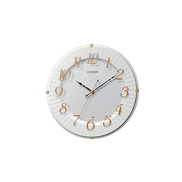 【送料無料】電波掛時計 ゴールドメタリック色 8MY537-018【代引不可】