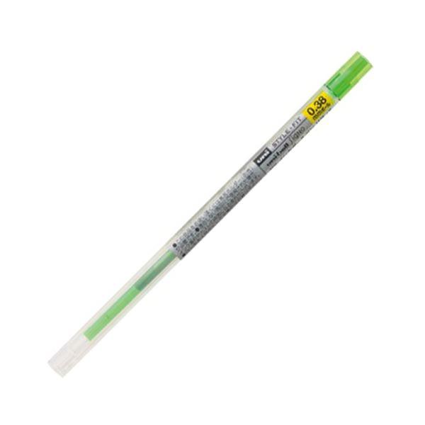 (まとめ) 三菱鉛筆 ゲルインクボールペンスタイルフィット 替芯 0.38mm ライムグリーン UMR10938.5 1セット(10本) 【×10セット】