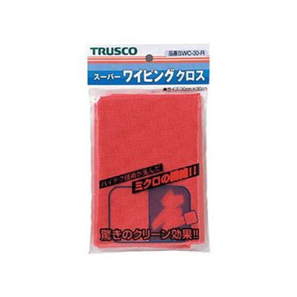 【送料無料】(まとめ)TRUSCO スーパーワイピングクロス300×300mm 赤 SWC-30-R 1枚【×20セット】