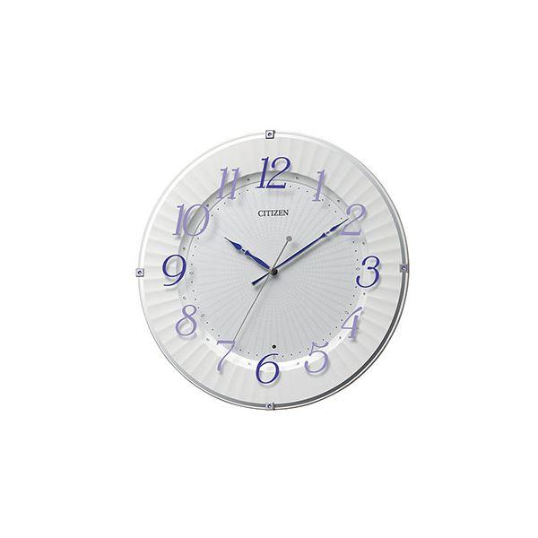 【送料無料】電波掛時計 紫 8MY537-012【代引不可】