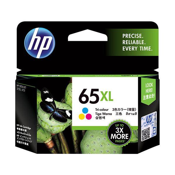 【送料無料】(まとめ) HP HP65XL インクカートリッジカラー(増量) N9K03AA 1個 【×5セット】