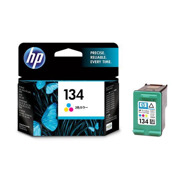 【送料無料】(まとめ) HP134 プリントカートリッジ カラー(ラージサイズ) C9363HJ 1個 【×10セット】