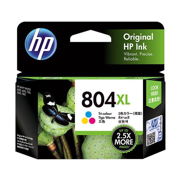 【送料無料】(まとめ) HP HP804XL インクカートリッジカラー(増量) T6N11AA 1個 【×5セット】