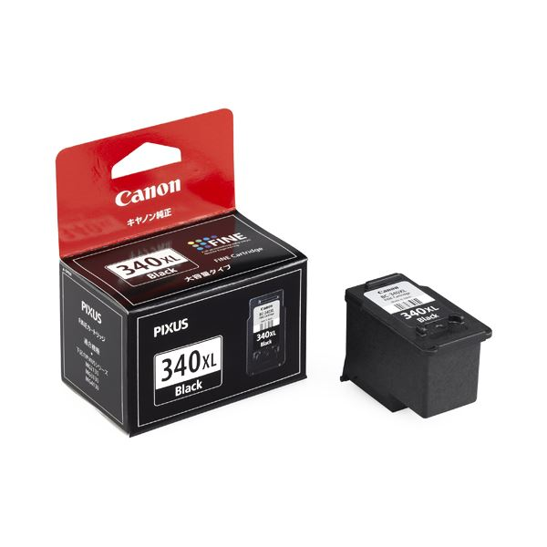 (まとめ) キヤノン Canon FINEカートリッジ BC-340XL ブラック 大容量 5211B001 1個 【×10セット】