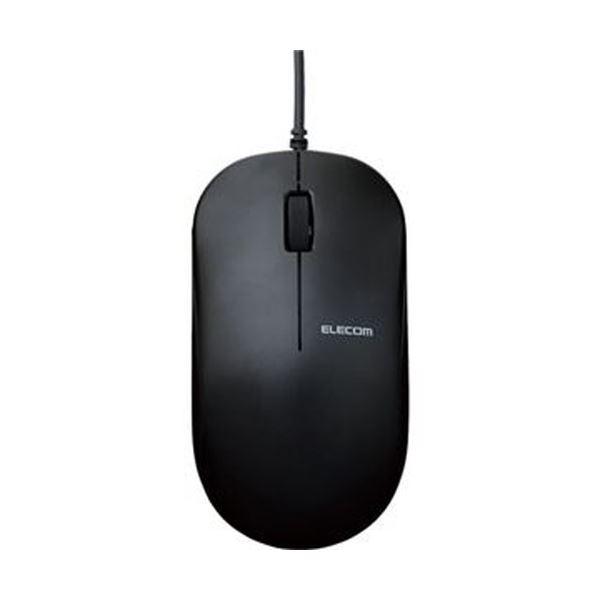 【送料無料】(まとめ)エレコム 有線3ボタンBlueLEDマウス ブラック M-K7UBBK/RS 1個【×10セット】