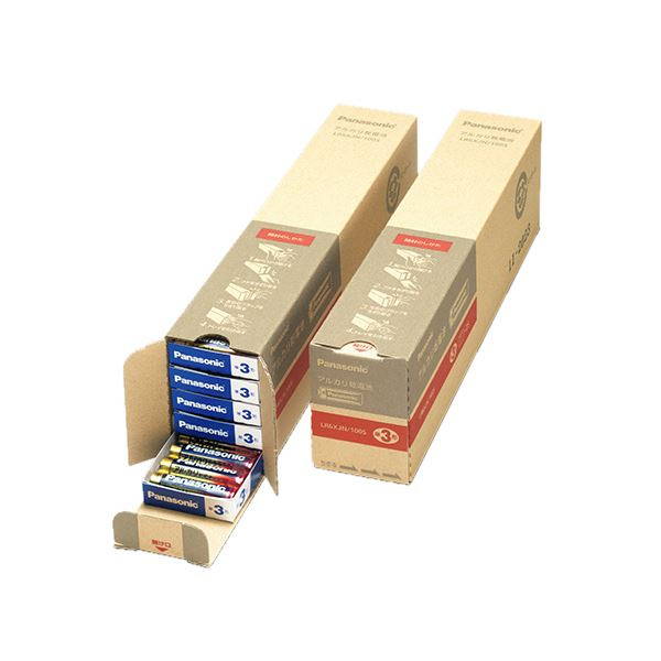 (まとめ)パナソニック アルカリ乾電池 単3形業務用パック LR6XJN/100S 1セット(200本:100本×2箱)【×3セット】