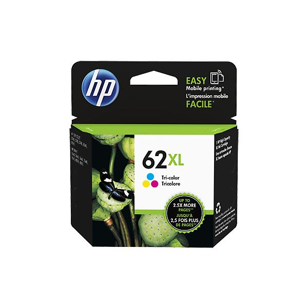 (まとめ) HP HP62XL インクカートリッジカラー 増量 C2P07AA 1個 【×5セット】